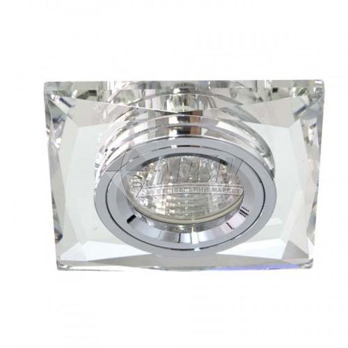 Світильник точковий вбудований Feron 8150-2 МR16 GU5.3/G5.3 срібло-срібло