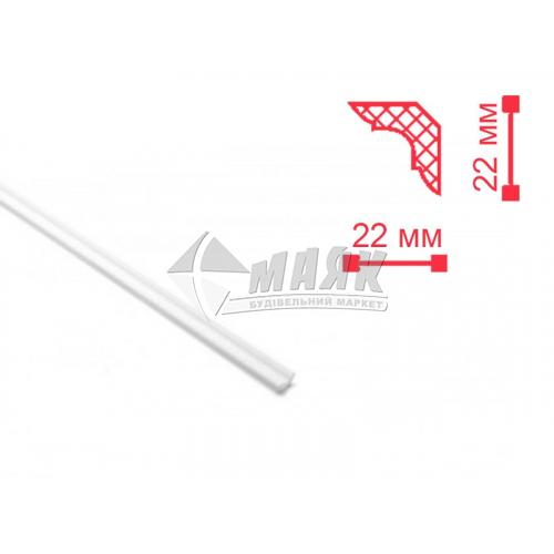 Плінтус стельовий декоративний NMC MB Decoplintus 22×22×2000 мм