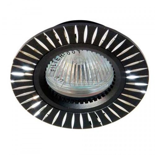Світильник точковий вбудований Feron GS-M394 МR16 GU5.3/G5.3 чорний