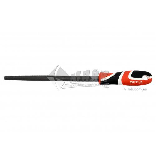Напилок трикутний YATO 200 мм №1 з ручкою