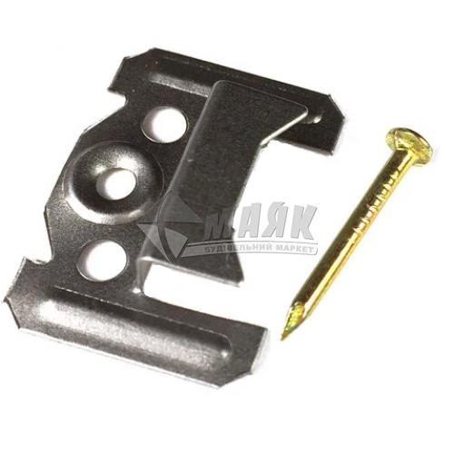 Скоба для вагонки (кляймер) 4 мм з цвяхом 100 шт
