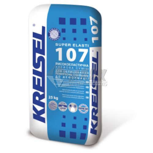 Клей для облицювальної плитки Kreisel SUPER ELASTI 107 Високоеластичний 25 кг