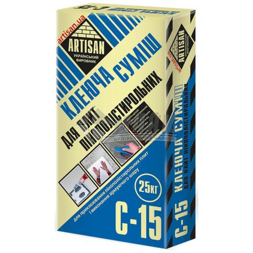 Клей монтажний для систем теплоізоляції Artisan C-15 25 кг