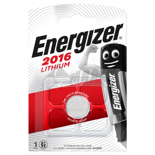 Батарейка ENERGIZER CR2016 Lithium літієва 1 шт