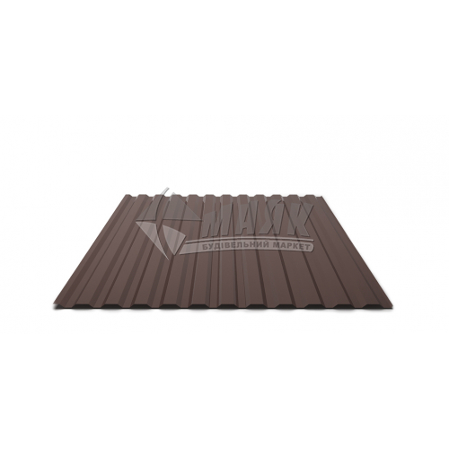 Лист профільний Т12 1700×1160×0,3 мм RAL 8017 коричневий