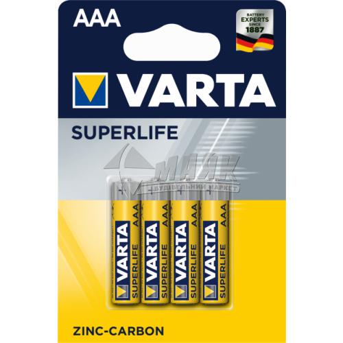 Батарейки VARTA Superlife AAA Zinc-carbon сольові (цинково-вугільні) 4 шт