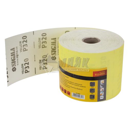 Папір абразивний (наждачний) SIGMA P320 115 мм
