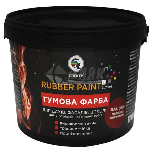 Фарба гумова Спектр акрилова 12 кг RAL 3009 червоно-коричнева