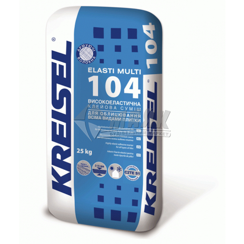 Клей для облицювальної плитки Kreisel 104 Elasti Multi 25 кг