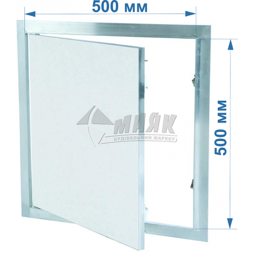 Дверцята ревізійні F1 G:125 500x500 мм гіпсокартон 12,5 мм