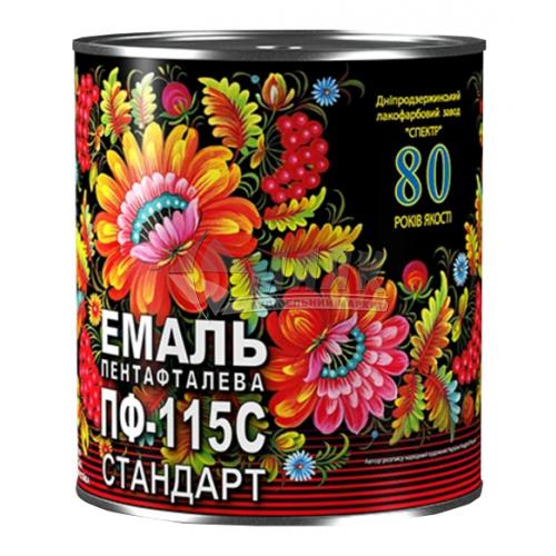 Емаль пентафталева Спектр Петриківка ПФ-115 0,9 кг вишнева