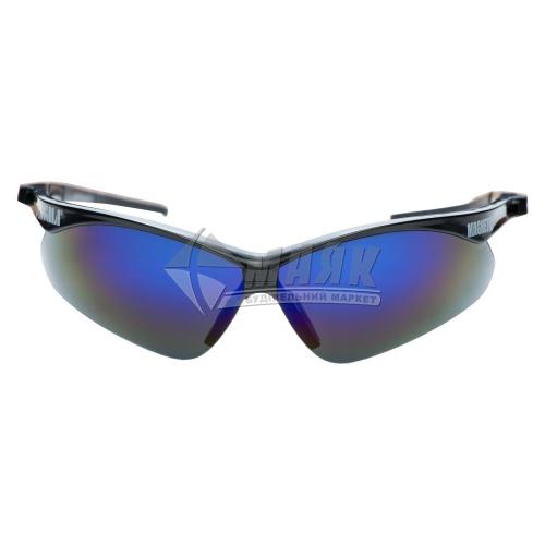 Окуляри захисні SIGMA Magnetic затемнені дзеркальні чорна оправа сині