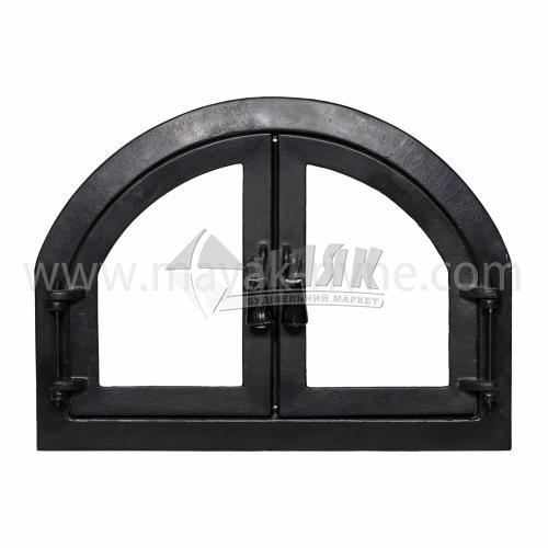 Дверцята для каміна Арка зі склом 570×420 мм 14,55 кг