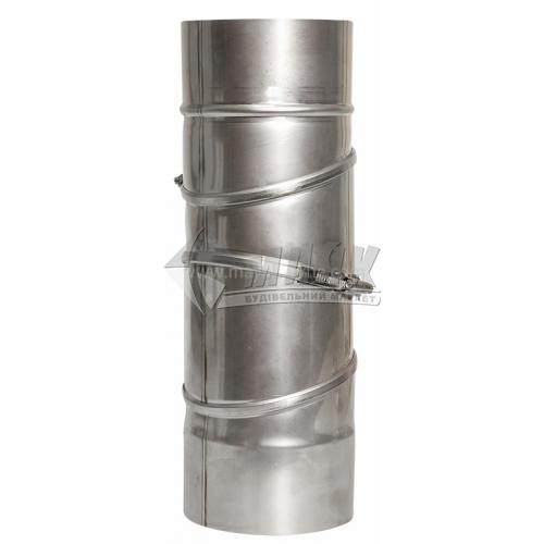 Коліно димоходу ВЕНТ УСТРІЙ універсальне (регульоване) 0,5×110 мм нержавіюча сталь 201