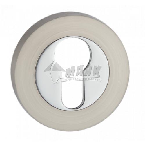 Накладка на циліндр кругла MVM E3 SN/CP нікель матовий/хром полірований