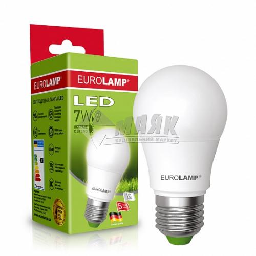 Лампа світлодіодна класична (груша) EUROLAMP 7Вт Е27 А50 4000°К (LED-A50-07274(Р))