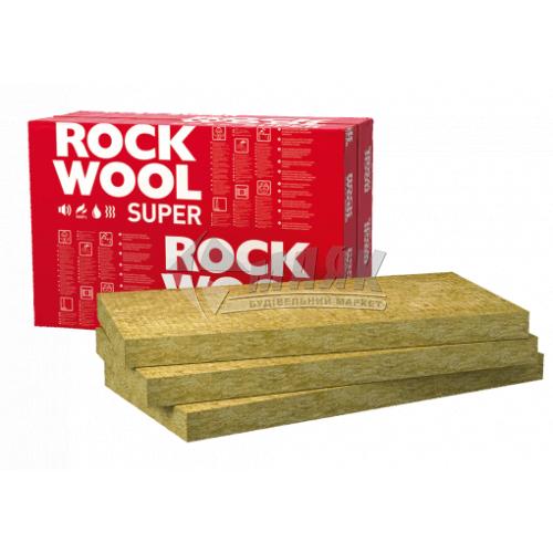 Вата мінеральна базальтова Rockwool SUPERROCK 50 мм 38 кг/куб.м 9,15 кв.м