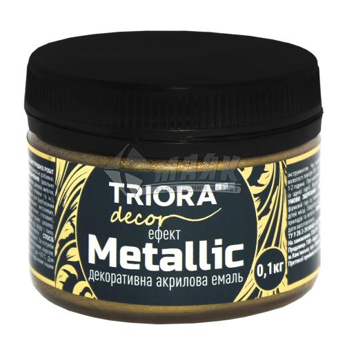 Фарба декоративна TRIORA Metallic 0,1 кг 921 антична бронза