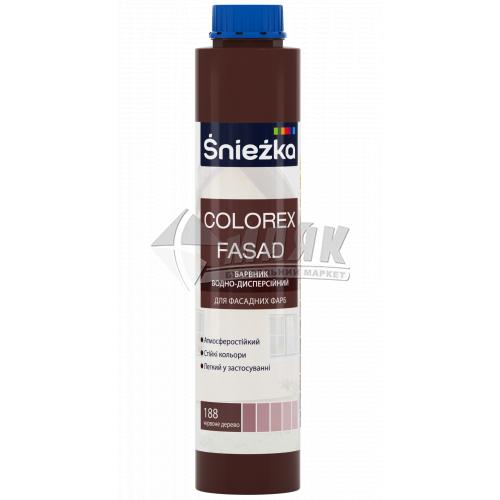 Барвник Sniezka Colorex Fasad 0,75 л 188 червоне дерево