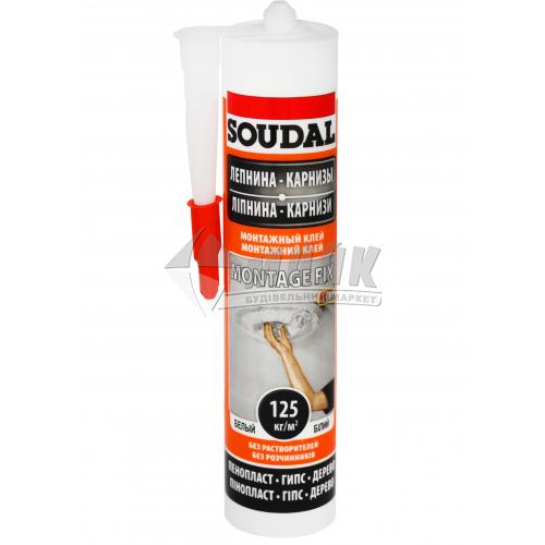 Клей-герметик монтажний Soudal Montage Fix 280 мл білий