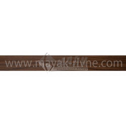 Профіль оздоблювальний ПВХ TIS ПОУ універсальний 20×20×2500 мм горіх