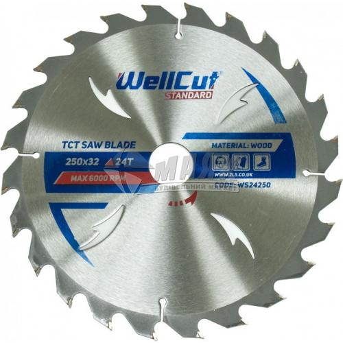 Диск пиляльний WellCut Standard 250×32 мм 24Т