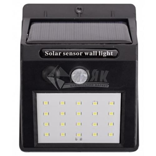 Світильник вуличний на сонячній батареї Luxel SSWL-01C 10Вт 6000°К IP64 чорний
