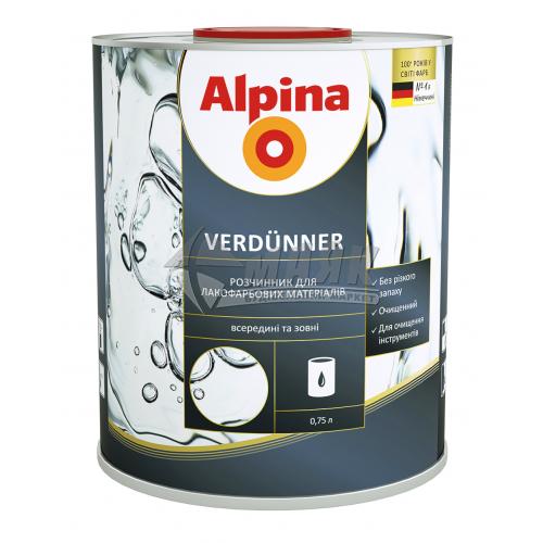 Розчинник деароматизований ALPINA VERDUNNER 0,75 л