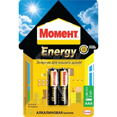 Батарейки Момент AAA/R03 Alkaline лужні 2 шт