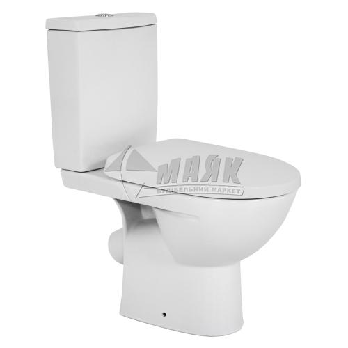 Унітаз-компакт Colombo Статус soft-close 3/6 л дюропластове сидіння з мікроліфтом нижній підвід косий вивід керамічний