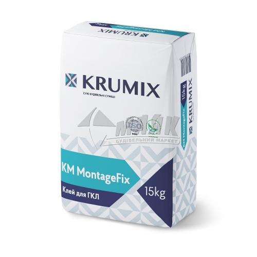 Клей монтажний для гіпсокартону KRUMIX KM MontageFix 14 кг