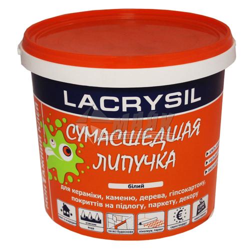 Клей монтажний (рідкі цвяхи) акрилові LACRYSIL Сумасшедшая Липучка 12 кг білий
