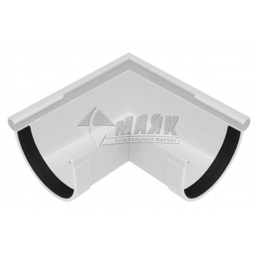 Кут ринви пластиковий зовнішній NewWay 90° 120 мм білий