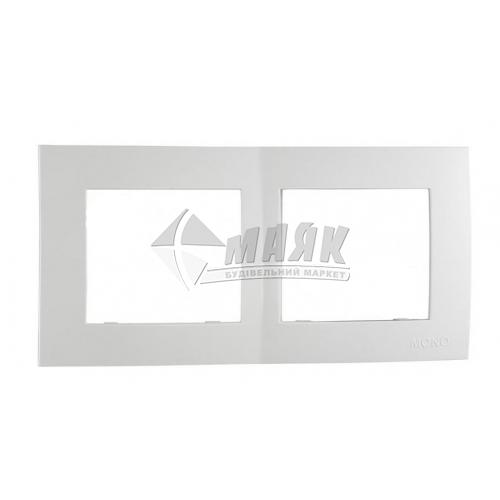 Рамка двомісна горизонтальна Mono Electric MONTE біла
