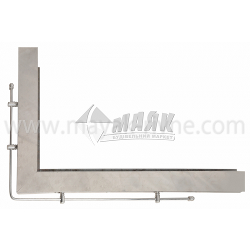 Кутник для плити нержавіюча сталь лівий 800×500 мм 4,17 кг