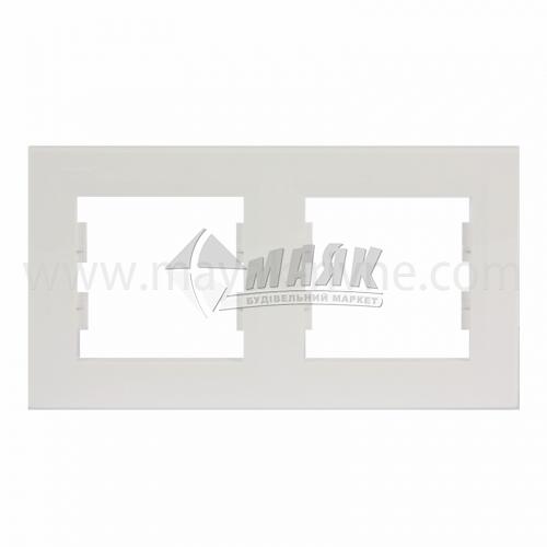 Рамка двомісна горизонтальна Schneider Asfora біла