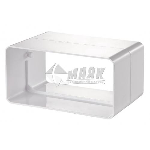 З'єднувач плоских вентиляційних каналів VENTS 818 204×60 мм