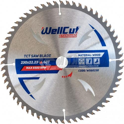 Диск пиляльний WellCut Standard 230×22,23 мм 60Т