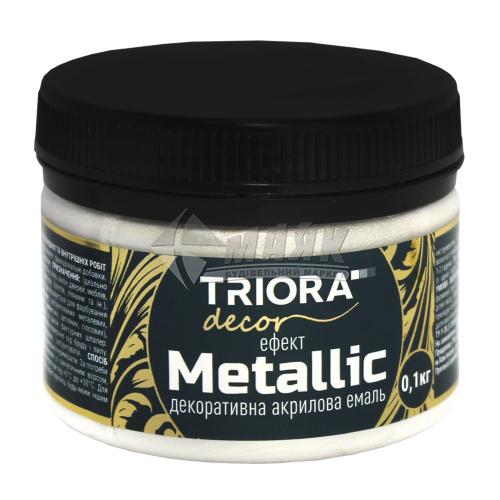 Фарба декоративна TRIORA Metallic 0,1 кг 162 срібло
