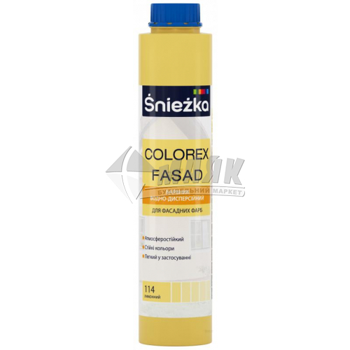 Барвник Sniezka Colorex Fasad 0,75 л 114 лимонний