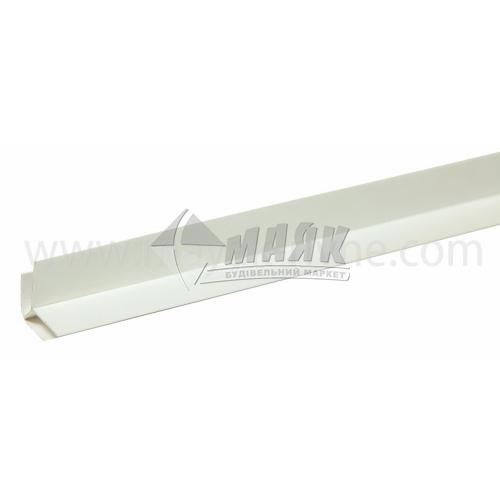 Профіль монтажний ПВХ кут зовнішній 3 пог.м 8,5 мм білий