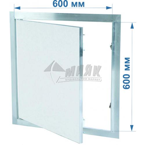 Дверцята ревізійні F1 G:125 600x600 мм гіпсокартон 12,5 мм
