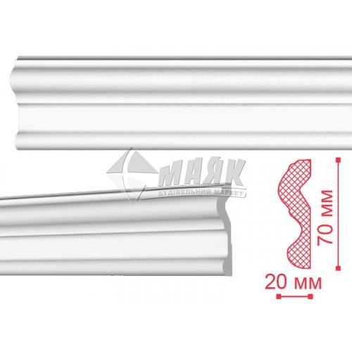 Плінтус стельовий декоративний NMC N Nomastyll 70×20×2000 мм