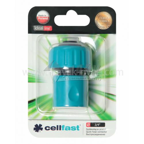 """Конектор пластиковий Cellfast 3/4"""""""
