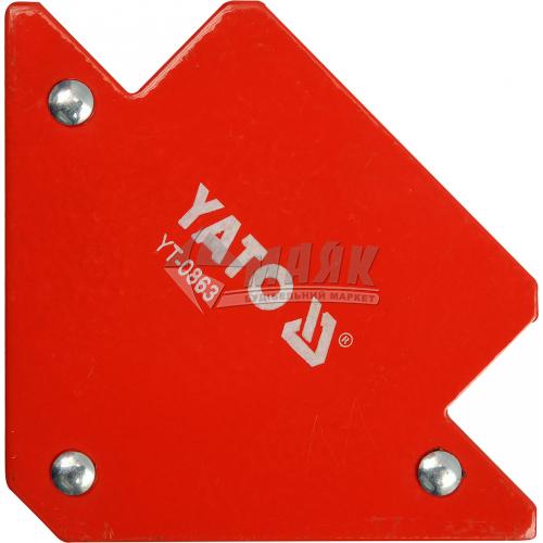 Струбцина магнітна для зварювання YATO 11 кг кутова 45°-90°-135°