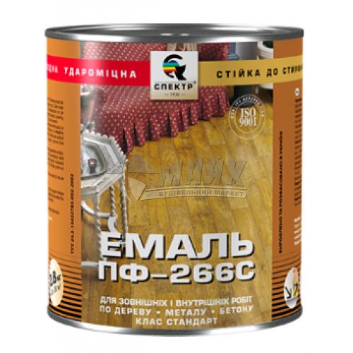 Емаль для підлоги Спектр Стандарт ПФ-266 0,9 кг 1 жовто-коричнева (горіх)