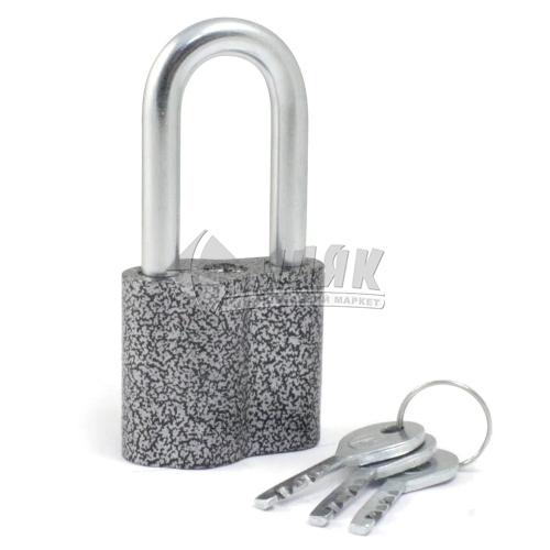 Замок навісний відкритий (амбарний) Apecs ЗН-А-55-П 3 ключі алюмінієвий