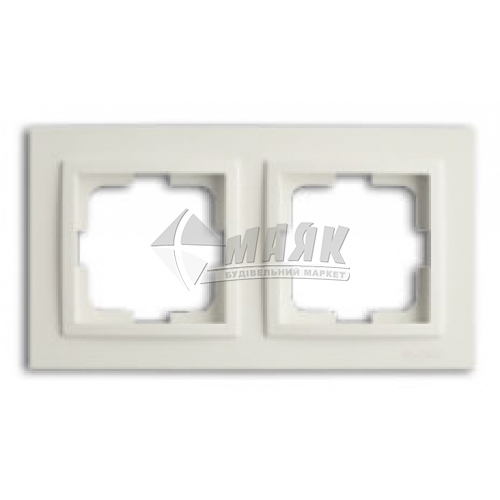 Рамка двомісна горизонтальна Mono Electric DESPINA біла
