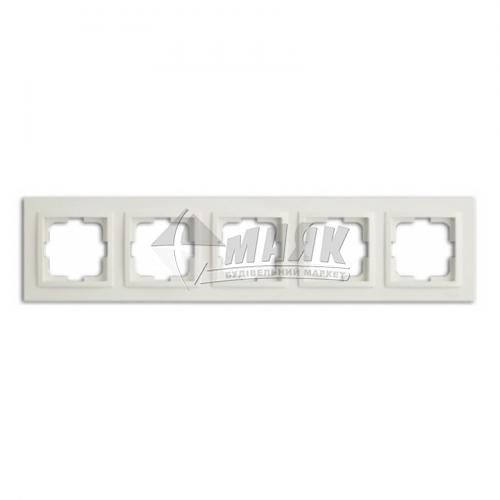 Рамка п'ятимісна горизонтальна Mono Electric DESPINA біла