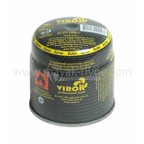 Балон газовий одноразовий VIROK тип 200 190 г